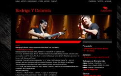 Site de Rodrigo & gabriela